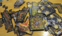 Descent: Journeys in the Dark 2nd edition board game boards