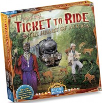 Ticket to Ride Africa board game map
