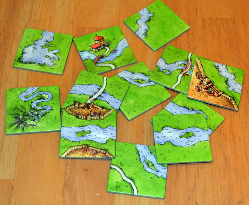 The Board Game Family Carcassonne The River Mini Expansion Review - River game