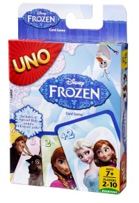 Frozen UNO card game