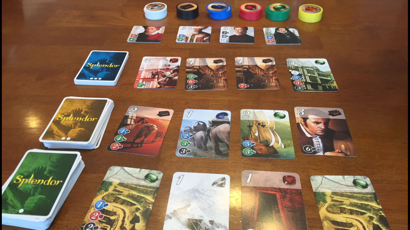 Game board colors - In This Photo Of The Game Components You Can See That Differentiating Gem Symbols Have Been Added To All Those Previously Ambiguous Circles And Rectangles