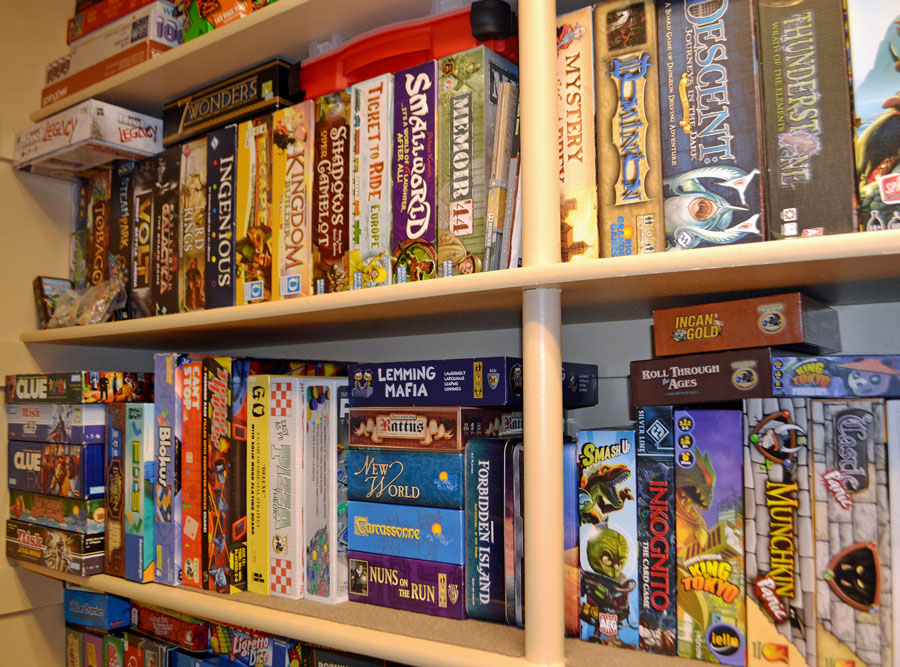 how to organize your board game collection 3 steps rh theboardgamefamily com shelves for games consoles shelving for games
