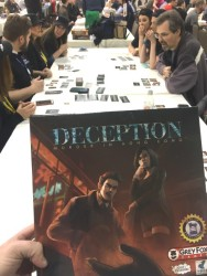 SaltCon 2016 Deception Murder in Hong Kong board game