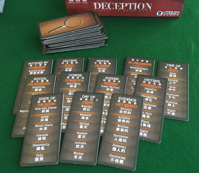 Deception: Murder in Hong Kong board game