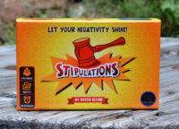 Stipulations party game box