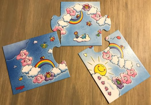 Unicorn Glitterluck Cloud Crystals children's board game