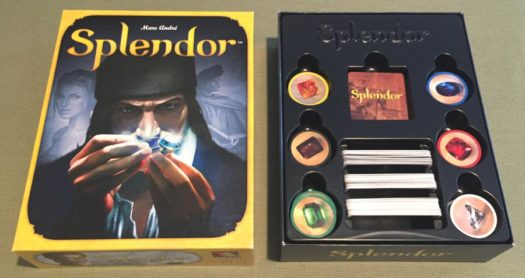 Splendor board game inside