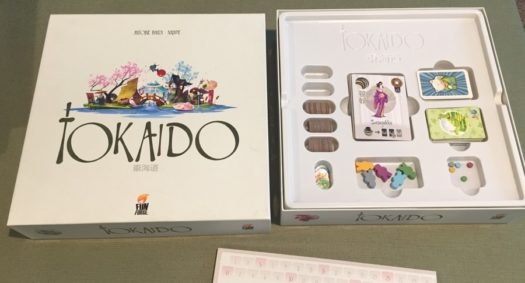 Tokaido board game inside