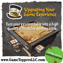 Game Toppers custom game tables