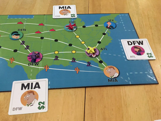Now Boarding board game