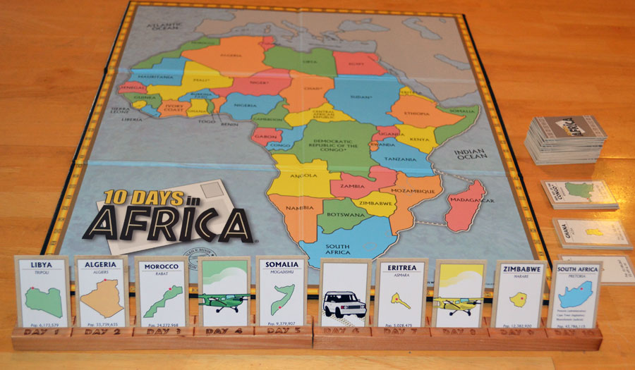 Map Of Africa Games.10 Days In The Americas The Board Game Family