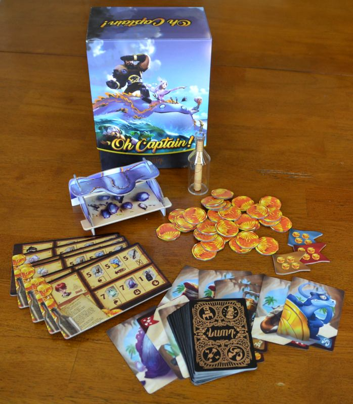 Oh Captain Game Review The Board Game Family