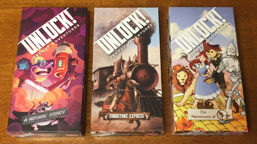Unlock! Adventure Series game reviews - The Board Game Family